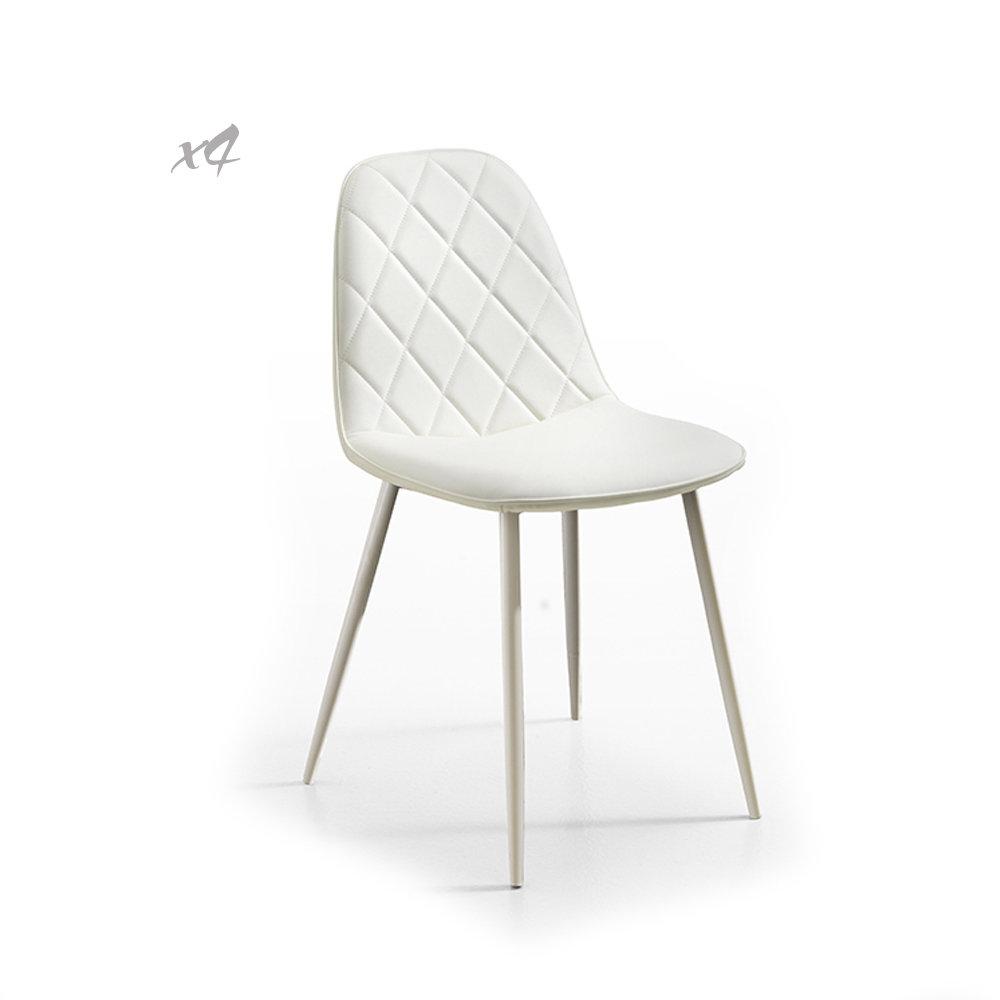 Set 4 sedie faro bianco twist design black white for Sedie design twist
