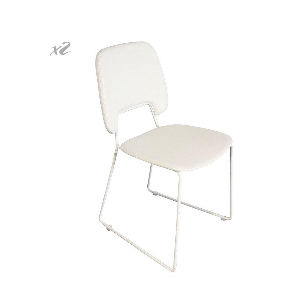 Set 2 sedie cabrera bianco twist design black white for Sedie design twist