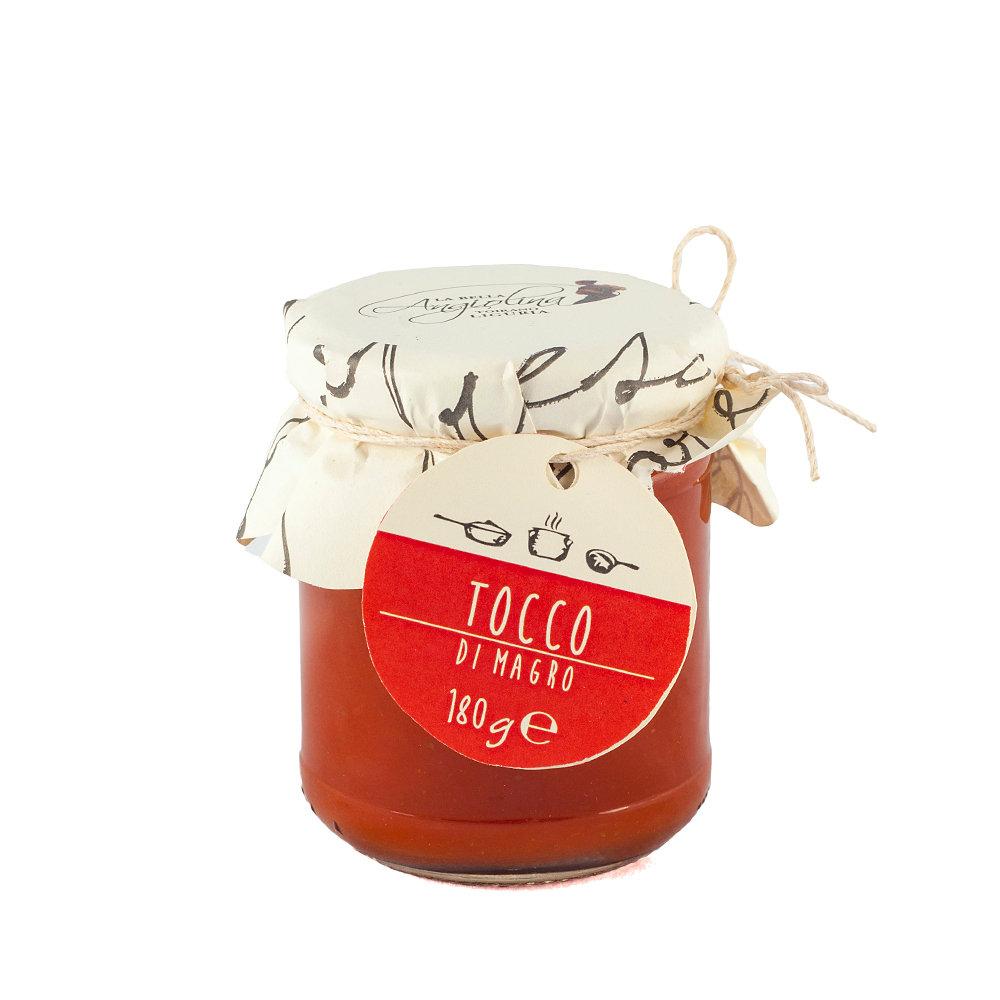 6 vasetti - Tocco pomodoro e basilico 180 gr