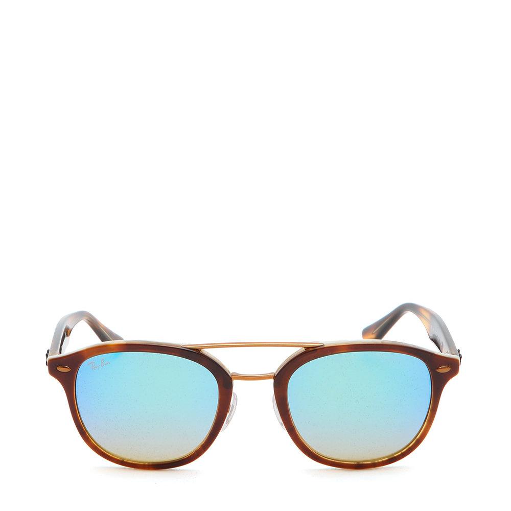 704b07bf65 Occhiali da sole Ray-ban Sun con montatura a tartaruga e lente blu ...