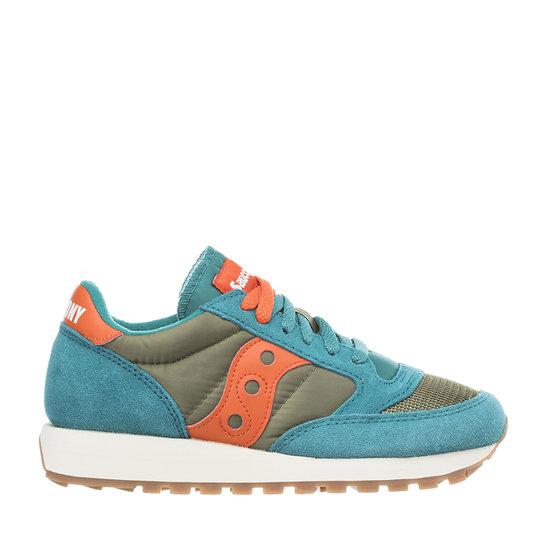 Saucony sneakers jazz original vintage antracite, azzurro e rosa