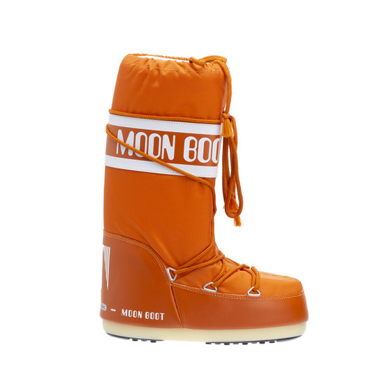 Stivali alti in pelle ed ecopelliccia vinaccia Moon Boot Acquista su Ventis.