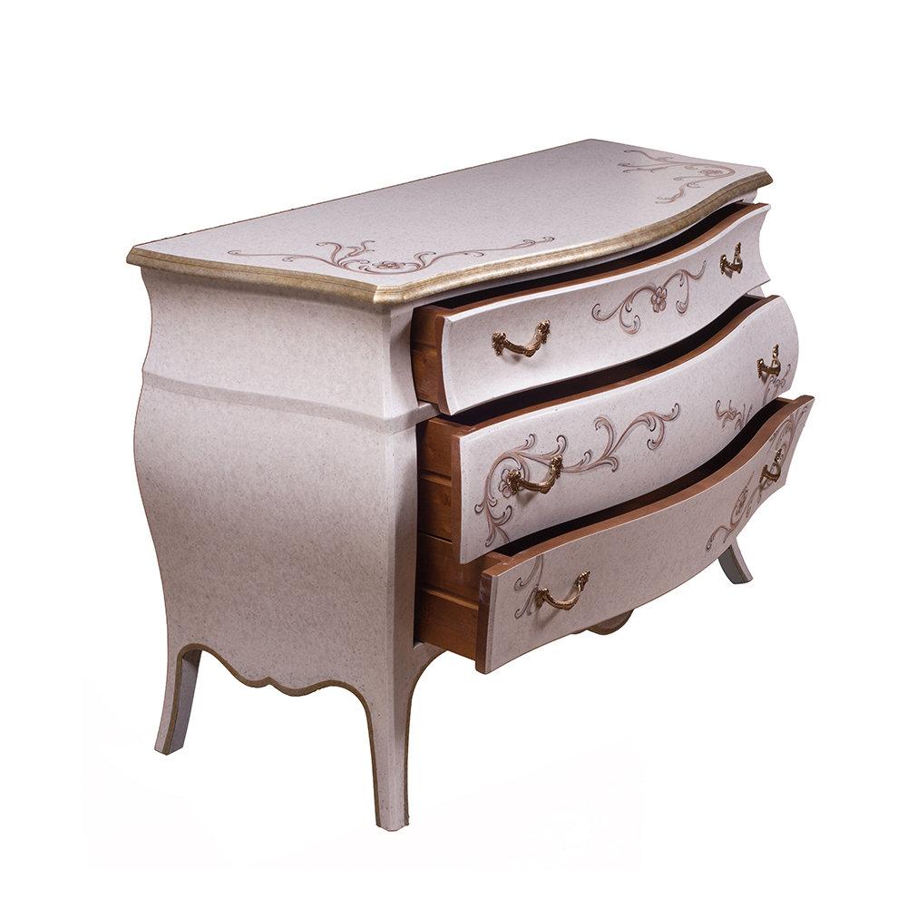 Bt mobili com leo stile francese 3 cassetti for Mobili stile francese