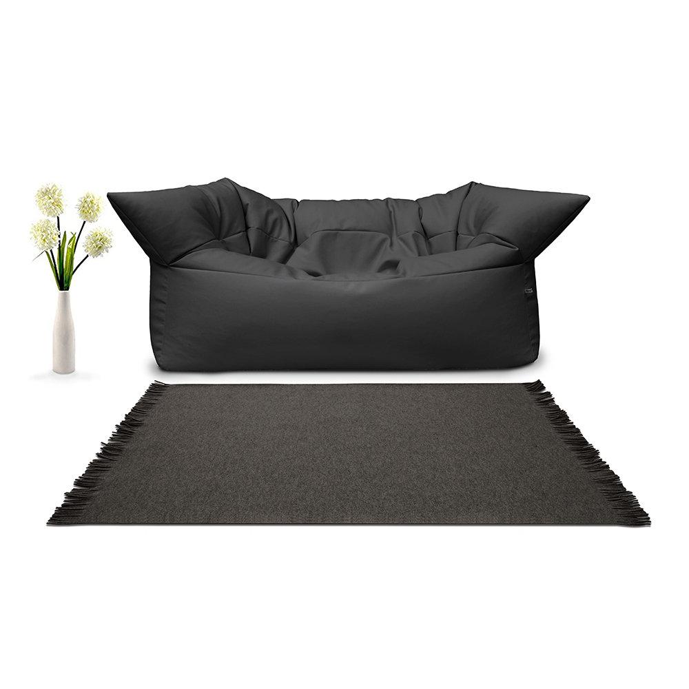 Divano formoso pelle ecologica nero filippo ghezzani acquista su ventis - Kit riparazione pelle divano ...