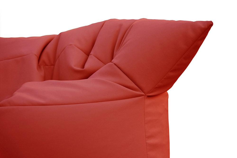 Divano Rosso Pelle : Filippo ghezzani divano formoso pelle ecologica rosso