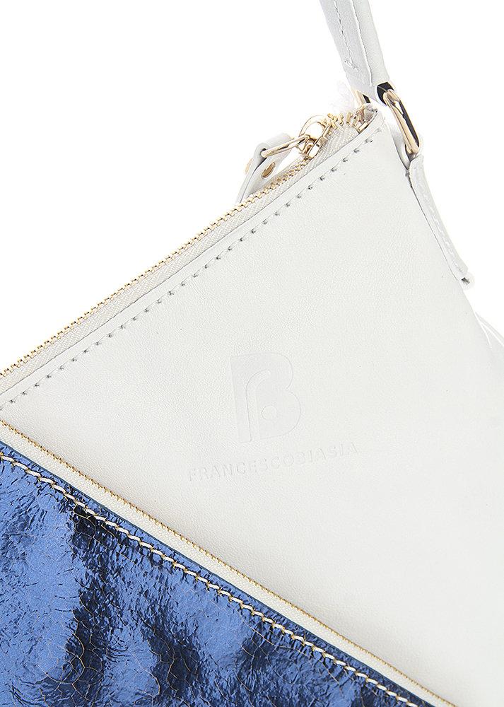 df07ed5d00 Borsa Biasia a spalla in pelle bianca e blu - Francesco Biasia ...