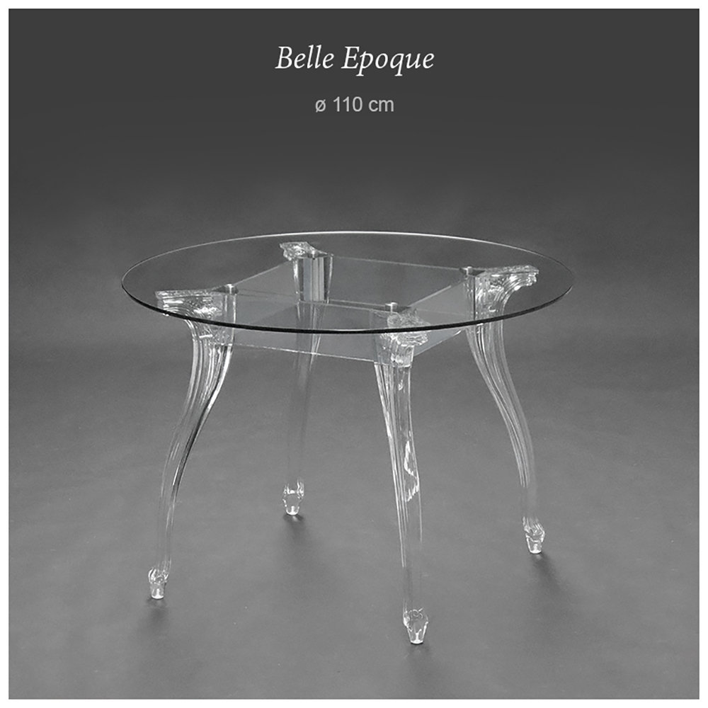 Tavolo Tondo Plexiglass.Tavolo Belle Epoque Tondo O110 Trasparente Dal Segno Acquista Su Ventis