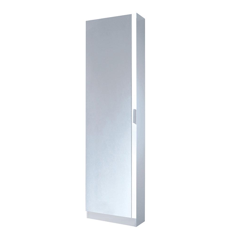 Scarpiera anta a specchio bianca 12 18 scarpe - Scarpiera specchio bianca ...