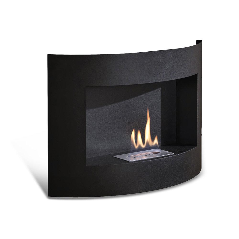 Caminetto da muro redonda flames design acquista su - Caminetto bioetanolo design ...