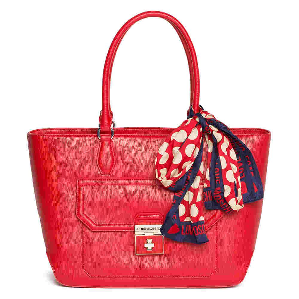 Borsa a spalla con foulard rossa. Vendita terminata · LOVE MOSCHINO  ACCESSORI 0654c60b03e