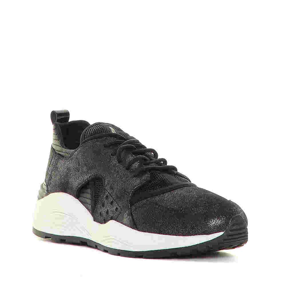 Sneakers da donna in pelle grigie e nere e04f89c8b93