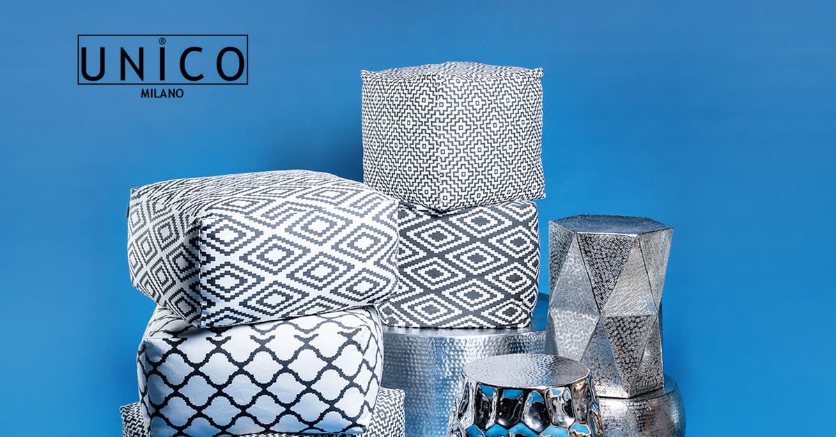 Unico milano decorazione pouf cuscini e complementi d for Cuscini d arredo on line