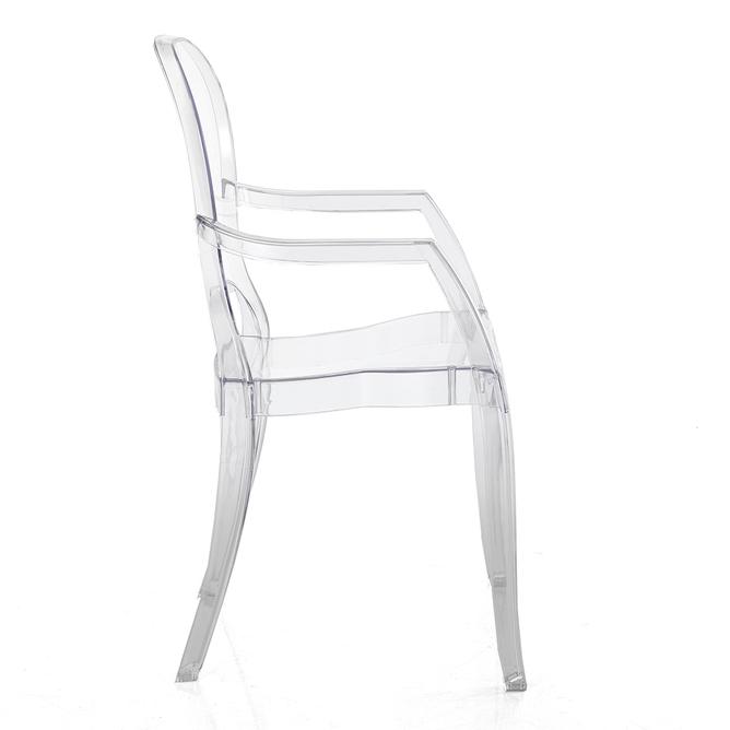 Set 2 sedie in policarbonato trasparente - Black e White