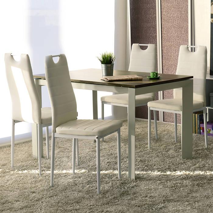 Set da 4 sedia lola in similpelle bianco speciale sedie for Sedie in similpelle