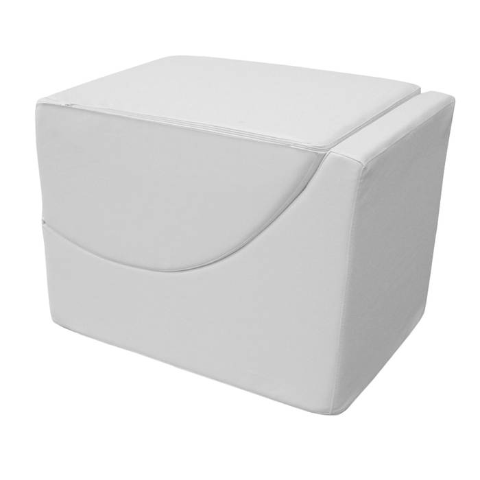Pouf chaise longue trasformabile in ecopelle, bianco - Due ...