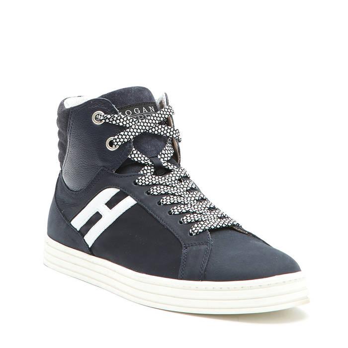 Sneakers alte da uomo blu - HOGAN SCARPE