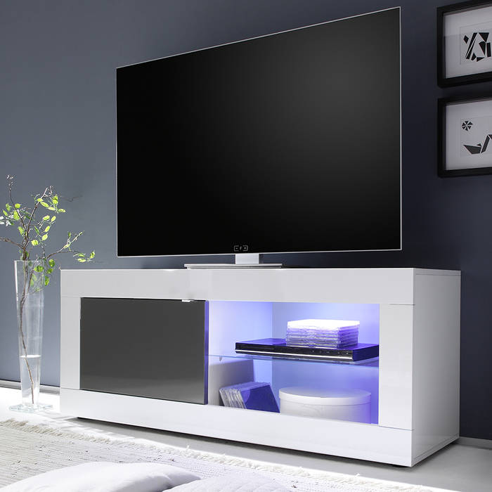 mobile porta tv laccato bianco grigio tft living 2018