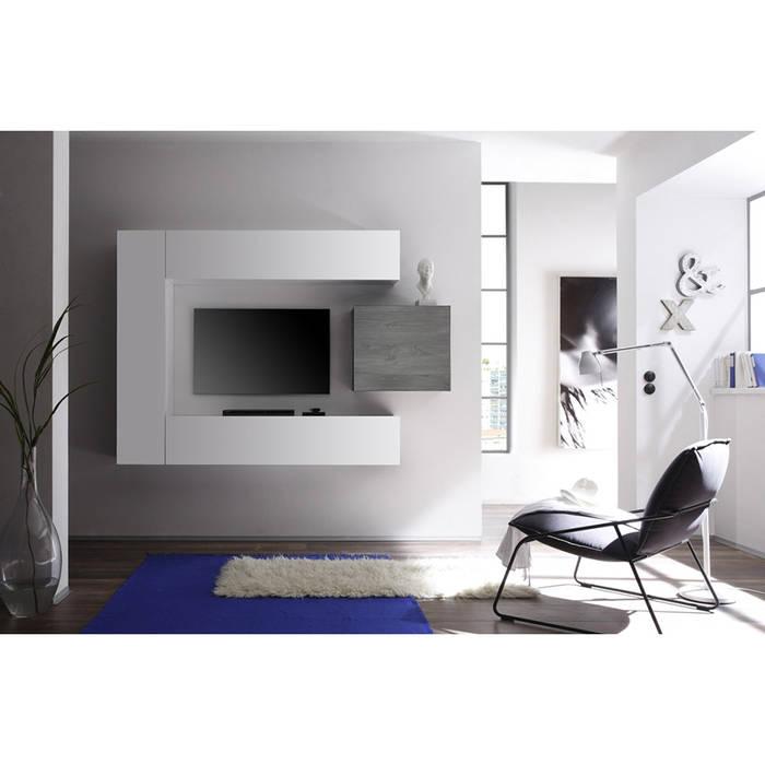 composizione mobili laccato bianco oak grigio tft
