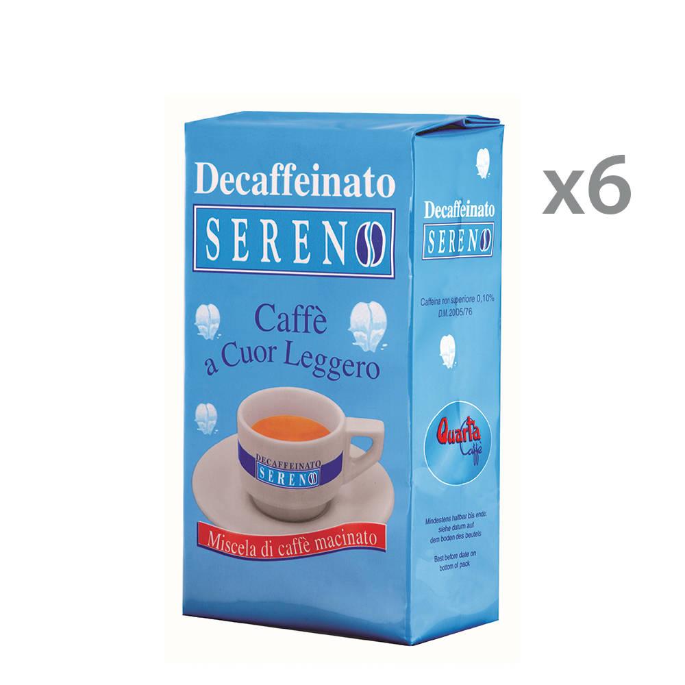 6 confezioni decaffeinato sereno 250 gr quarta caff - Diversi tipi di caffe ...