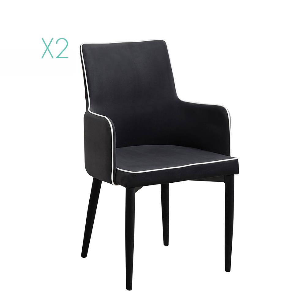 Set da 2 poltrone plana plus nera sedie ufficio by for Poltrone minimal