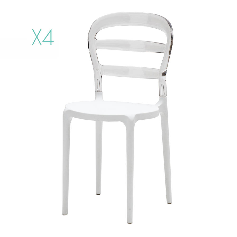 Set da 4 sedie, trasparente - La Sedia perfetta