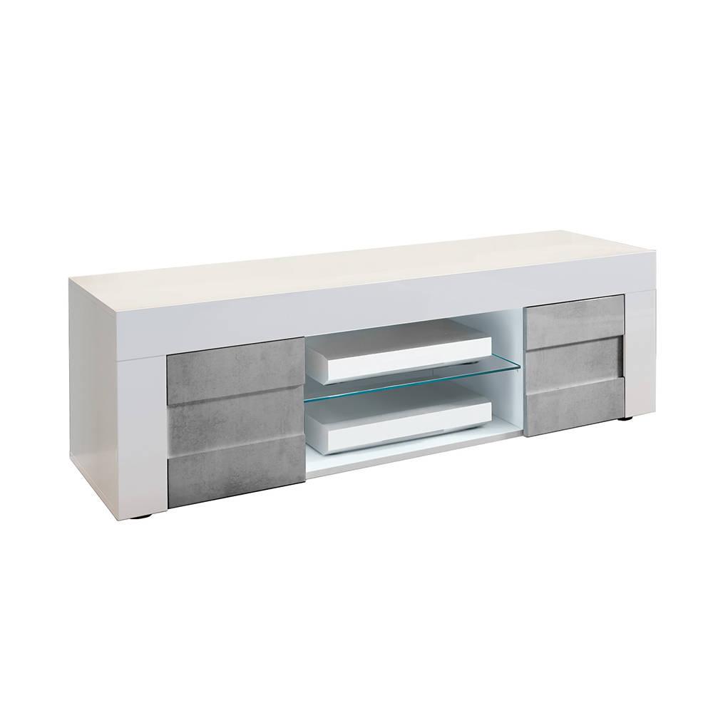 Porta tv build bianco cemento tft grey for Arredamento made in china