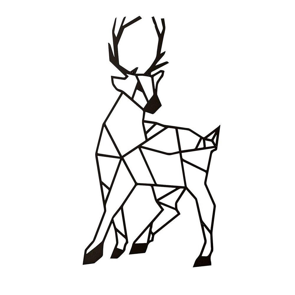 Decorazioni da parete in metallo deer nero contemporary - Decorazioni da parete in metallo ...