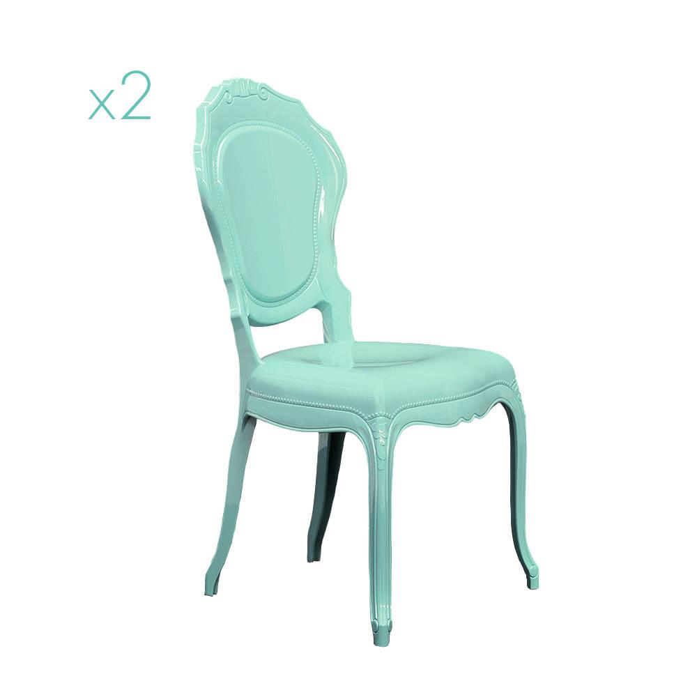 Set 2 Sedie Belle Epoque, verde vintage - Dal Segno