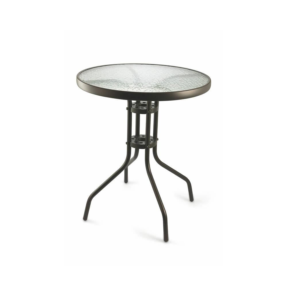 Tavolo tondo con piano in vetro 60 outdoor inspiration acquista su ventis - Tavolo tondo in vetro ...