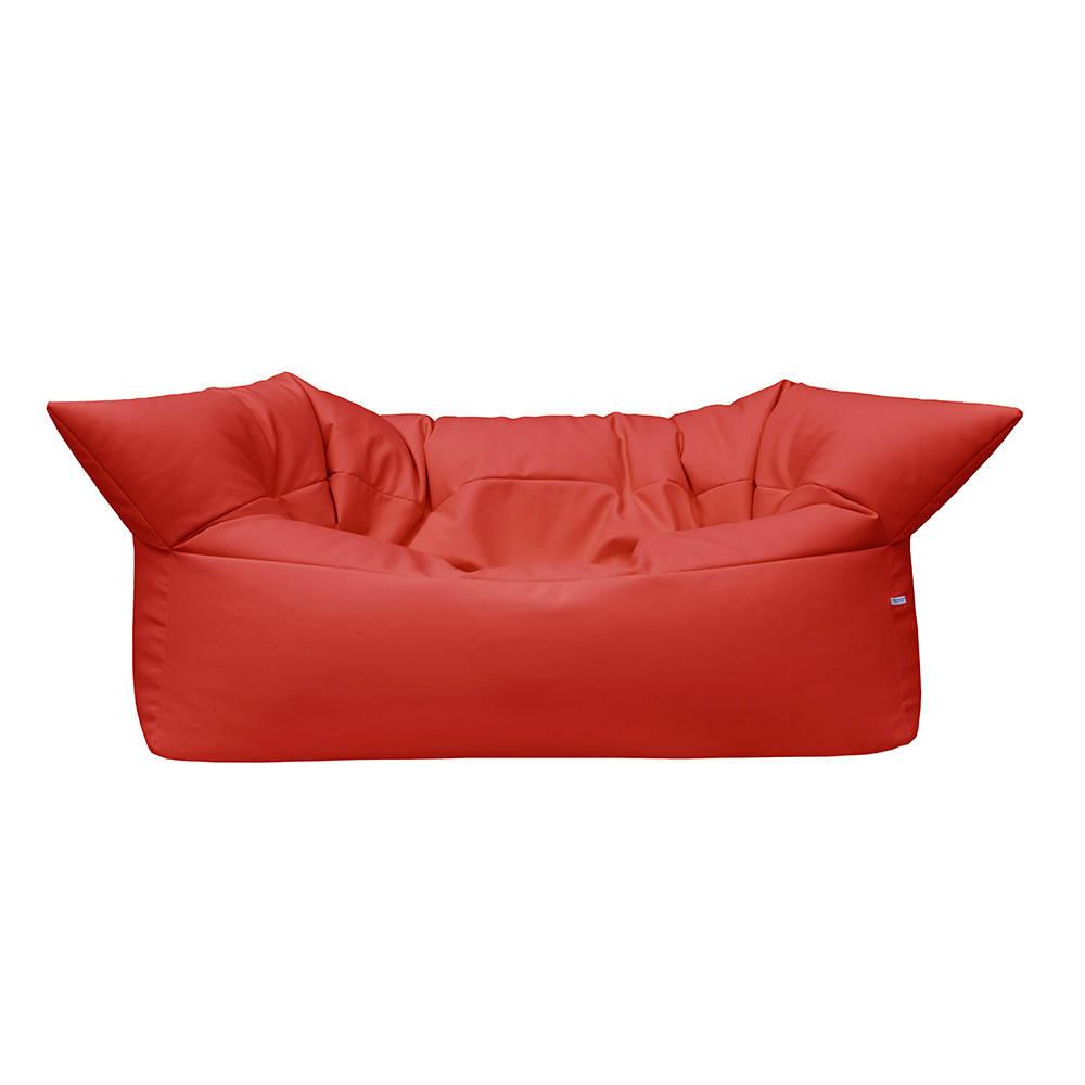 Divano formoso in pelle ecologica rosso filippo for Divano in pelle rosso