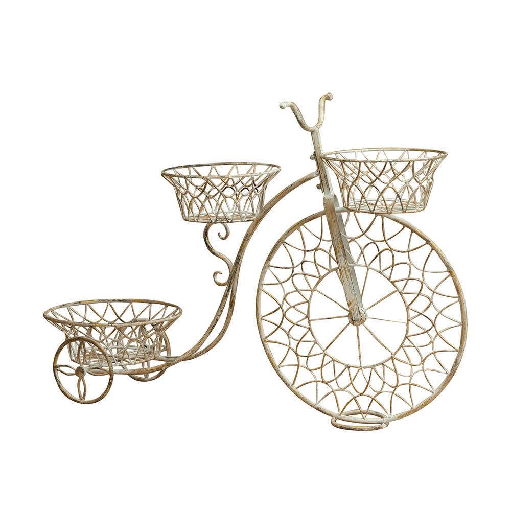 bicicletta portavasi in ferro bianco come arredare il