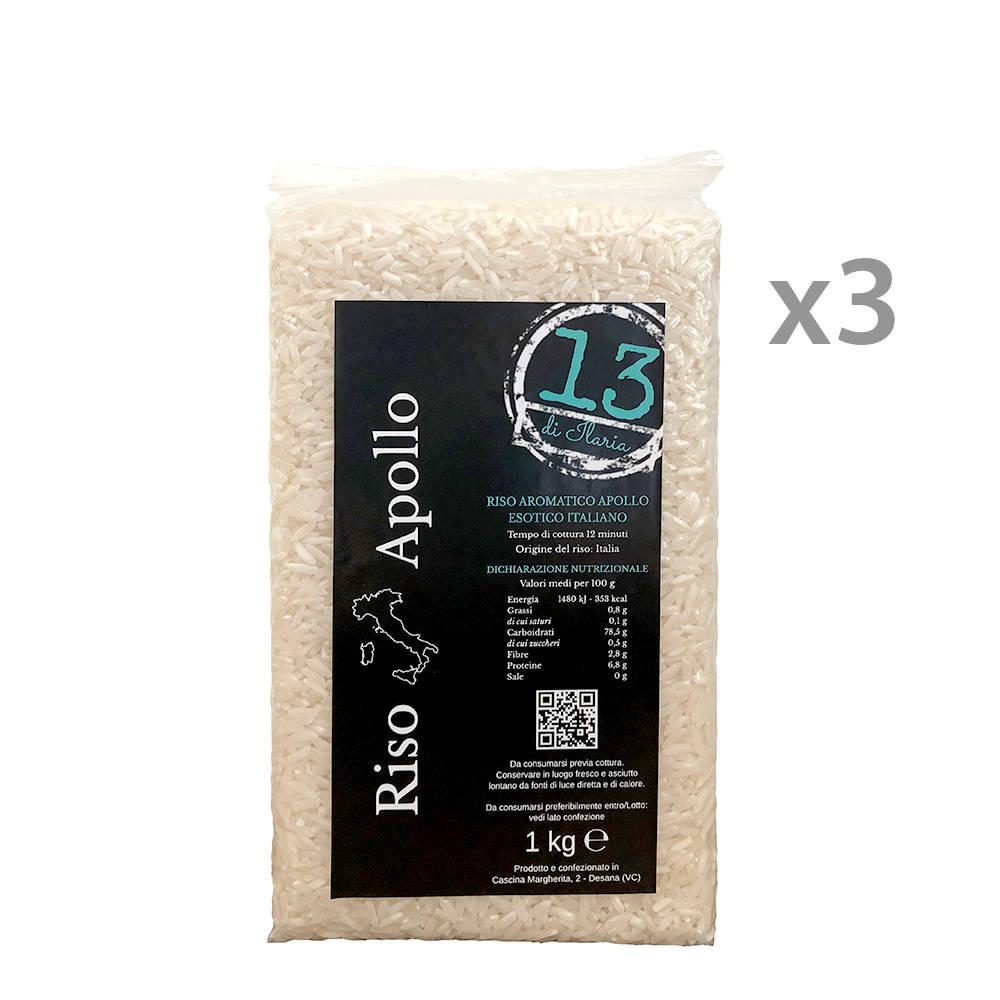 3 confezioni riso carnaroli apollo 1 kg 13 di ilaria for Cuocere 1 kg di riso