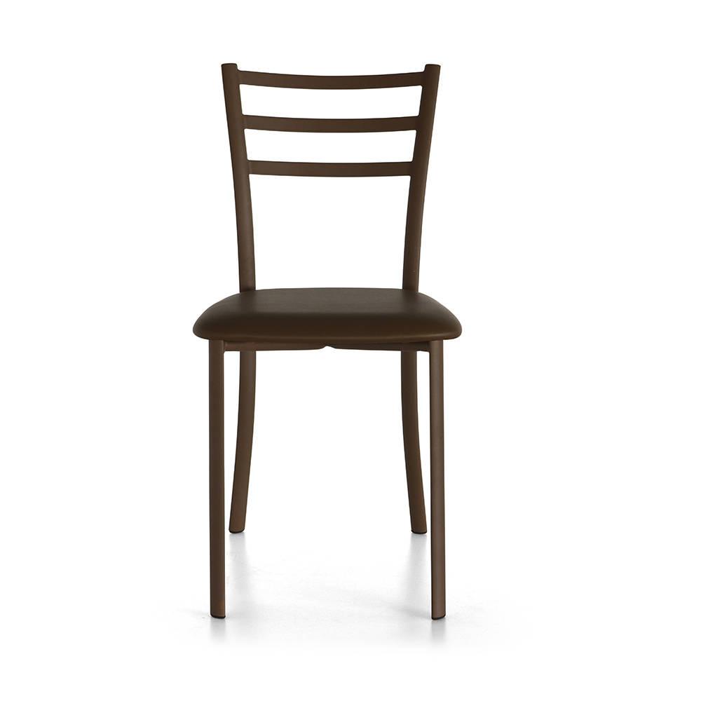 Set 4 sedie BIBI SMOOTH con seduta in cuoio, tortora Tuoni Living Acquista su Ventis.
