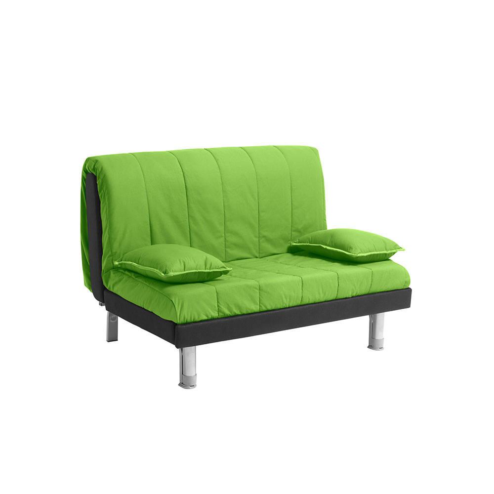 Divano letto plutone 120 in cotone verde facondini for Divano letto 120x190