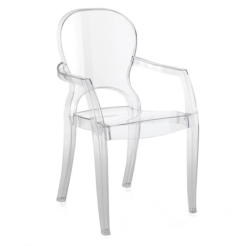 Set 2 sedie focus in policarbonato trasparente le for Sedie in policarbonato trasparente