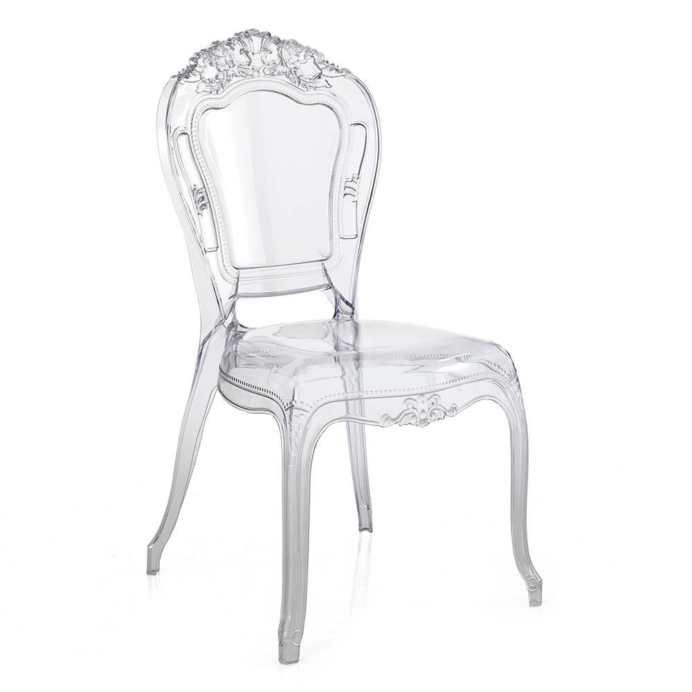 Set 2 sedie monaco in policarbonato trasparente le for Sedie in policarbonato trasparente economiche