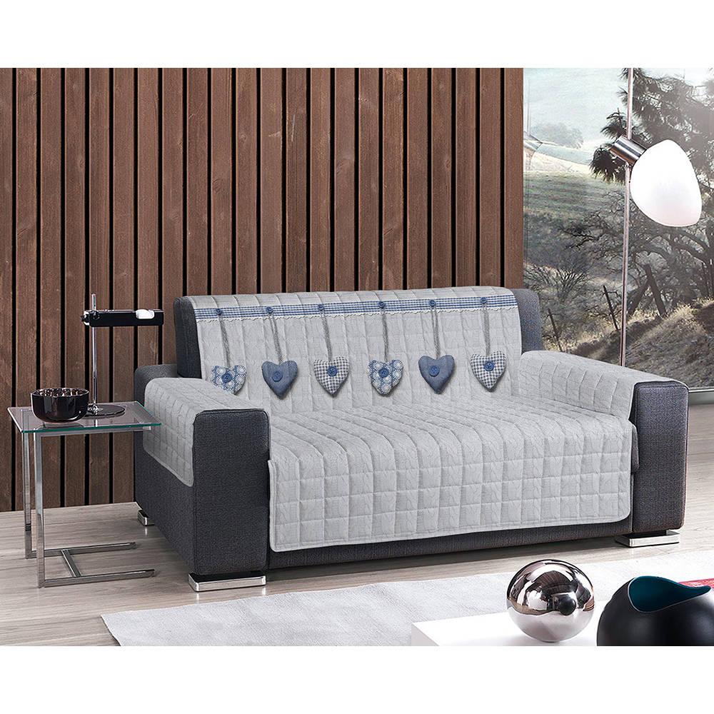 Copripoltrona cuori appesi azzurro sof decorativi for Teli decorativi