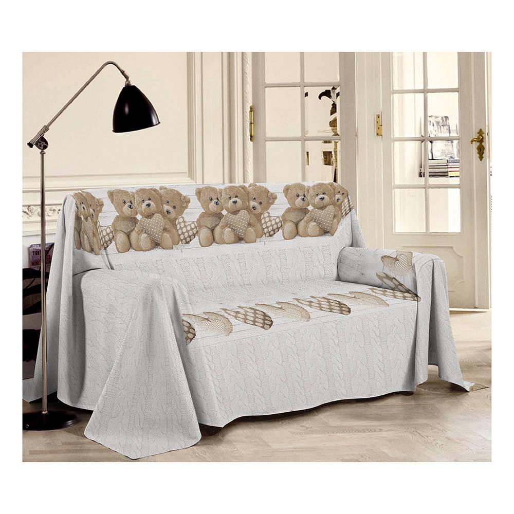 Telo arredo 1 piazza orsetti beige sof decorativi for Teli decorativi