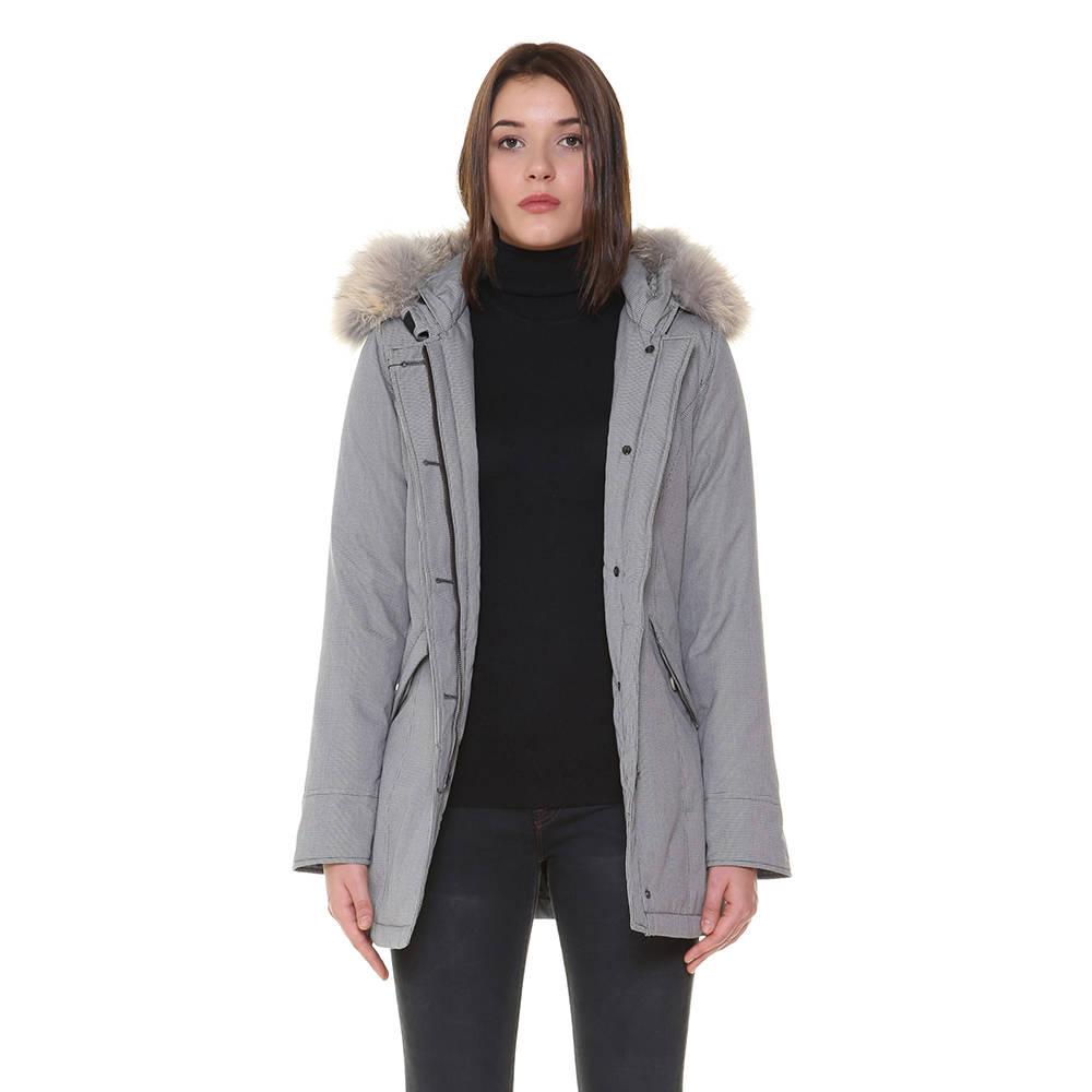 buy popular 7395d f5209 Parka Woolrich a fantasia da donna, bianco e nero - WOOLRICH - Acquista su  Ventis.