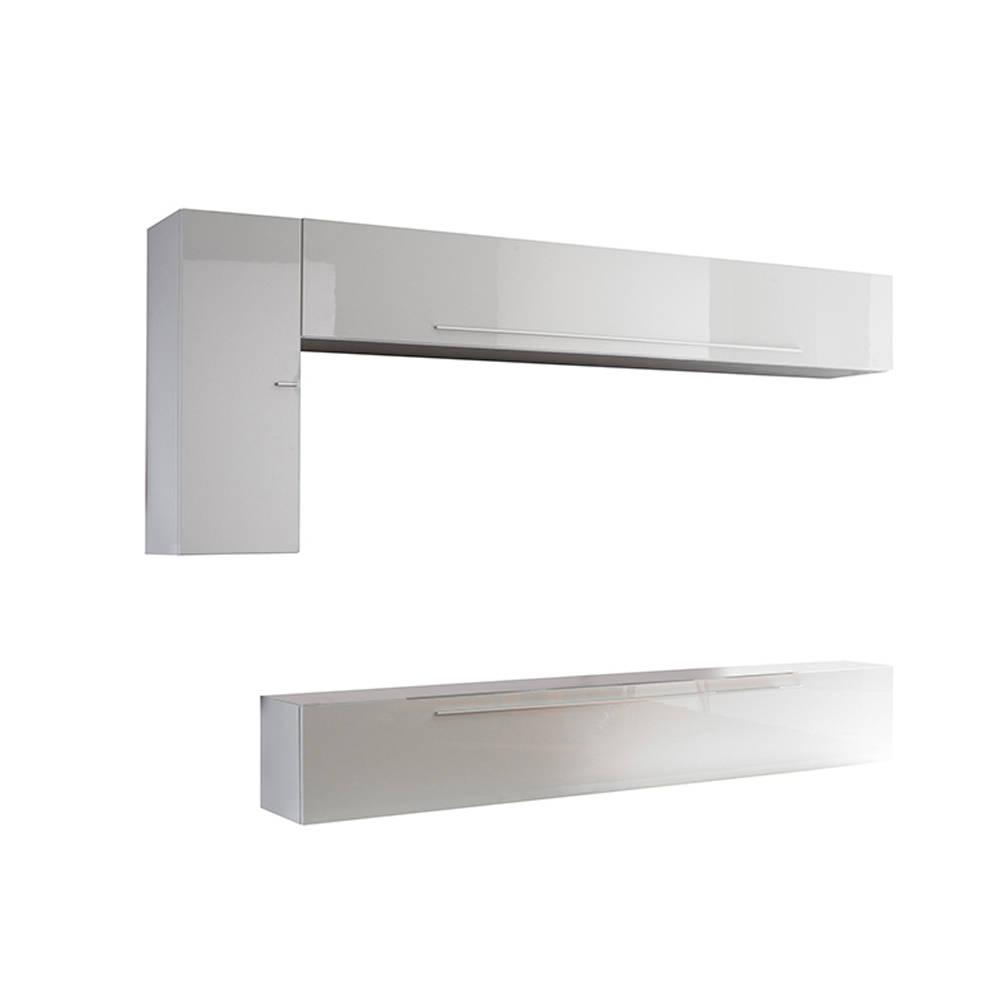 Set mobili da soggiorno, bianco lucido - Mineral Design TFT