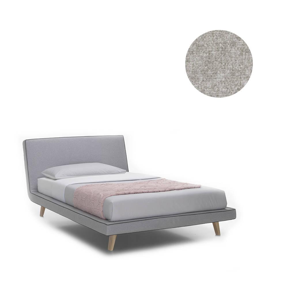 Letto 1 piazza e mezzo seul in feltro grigio chiaro letti co acquista su ventis - Dimensioni letto 1 piazza e mezzo ...