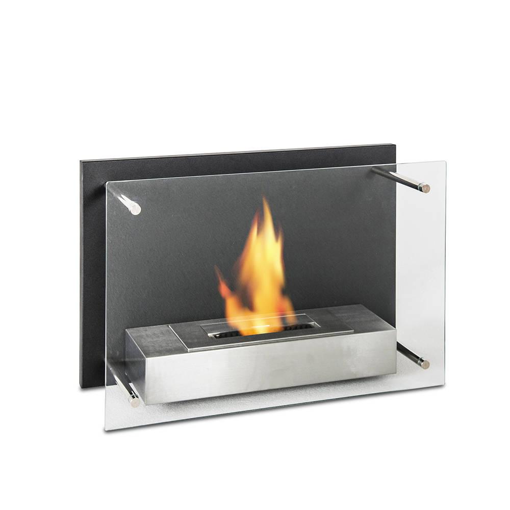 Caminetto da muro l 39 astra flames design acquista su - Caminetto bioetanolo design ...
