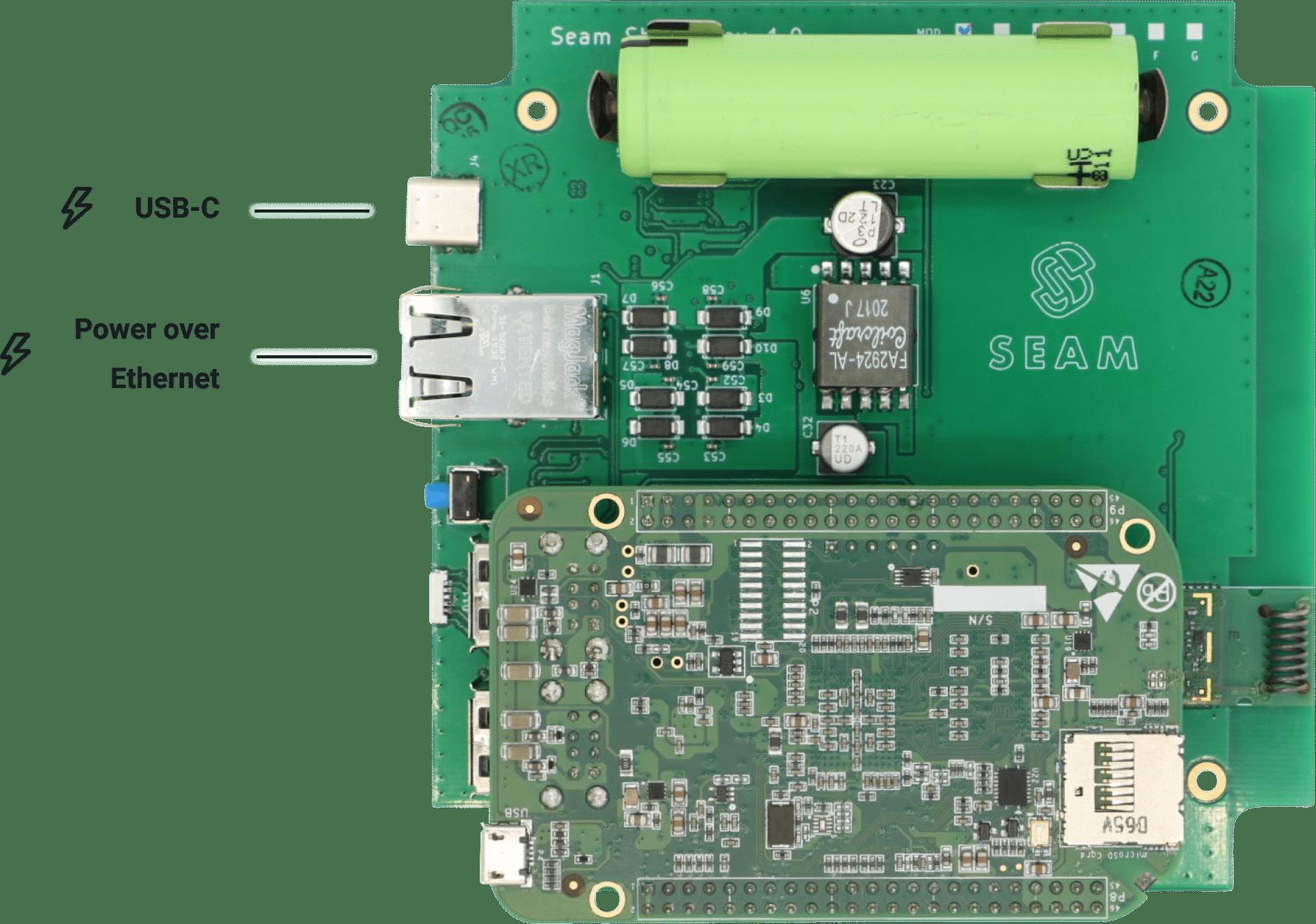 Seam Hub Power Options