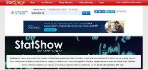 Cek visitor website dengan Statshow