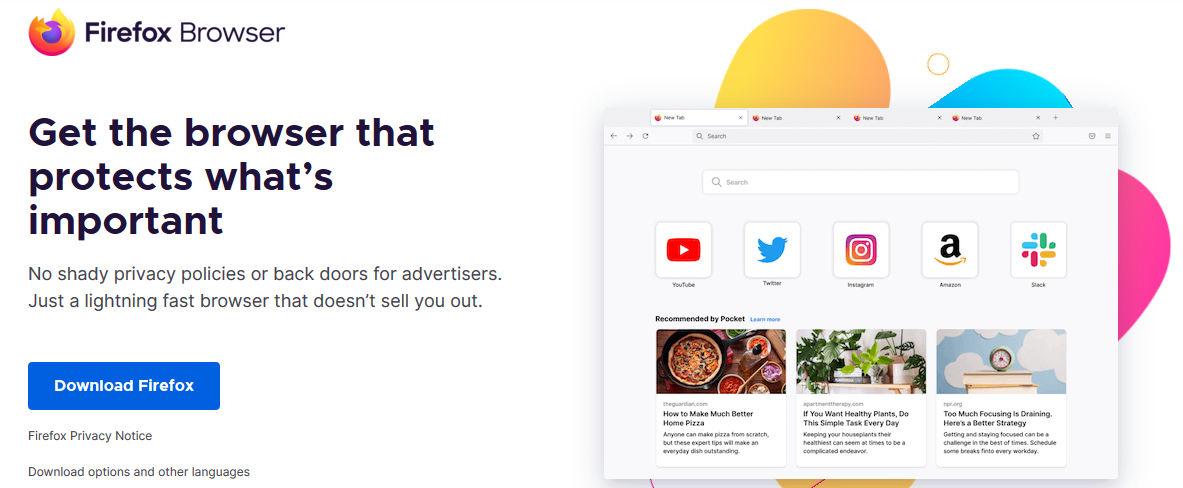 browser aman firefox