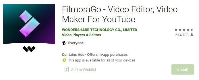 aplikasi edit filmorago