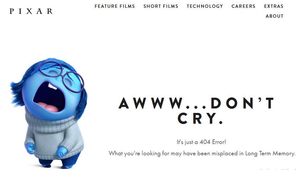 halaman 404 pixar