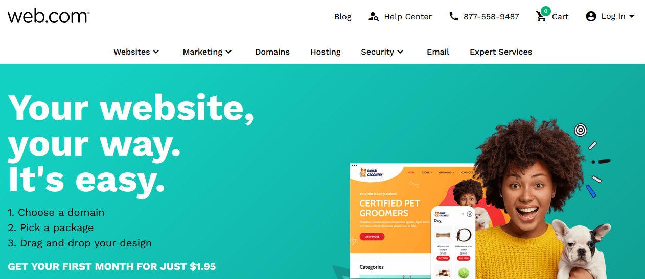 halaman website webcom