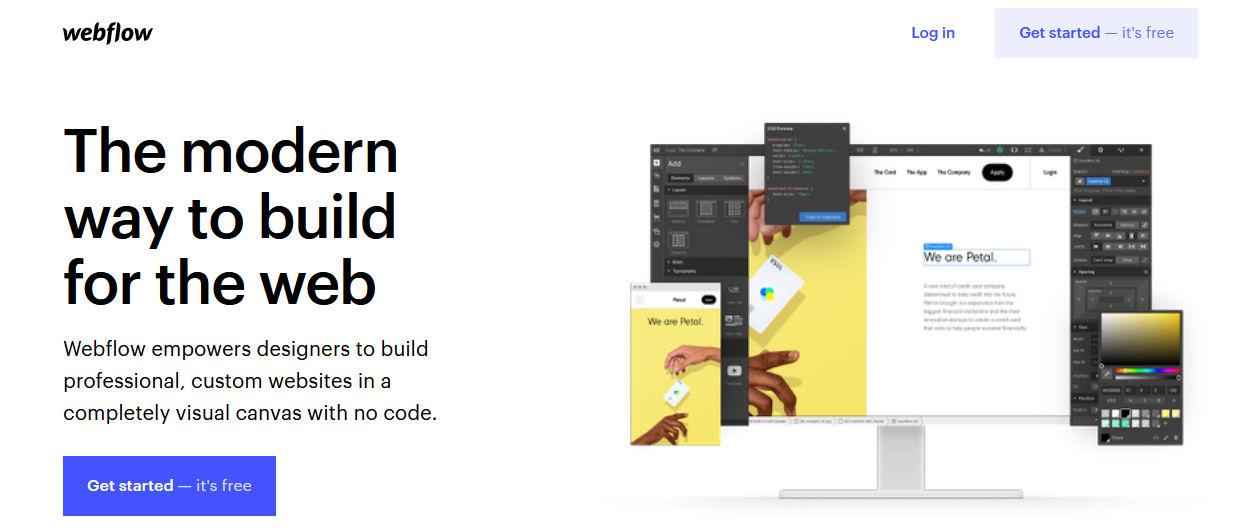 halaman website rekomendasi website builder webflow