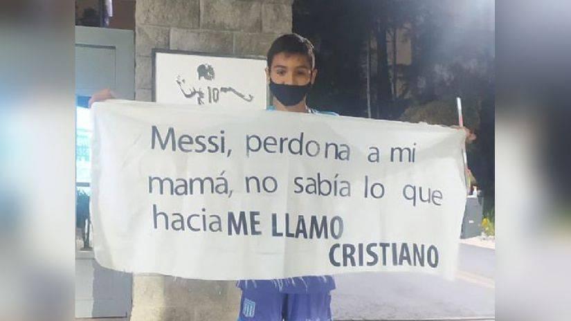 Perú vs. Argentina - Niño le pidió perdón a Lionel Messi por llamarse Cristiano